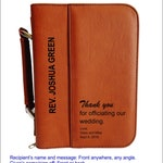Wedding Officiant Gift - Personalized Gifts for Priest - Thank You Pastor Bible Cover