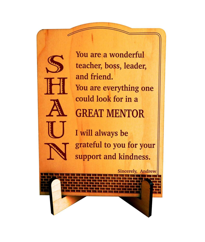 Geschenk für Mentor Chef Geschenke personalisierte | Etsy