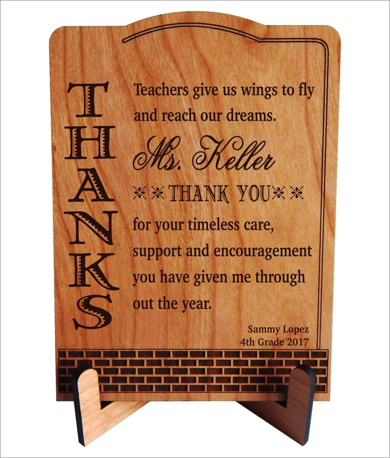 b7b6732cde094 Personalized Gift for Teacher from Student - Thank You Gifts - Teachers  Appreciation Gifts from Classroom Kids, PLT005