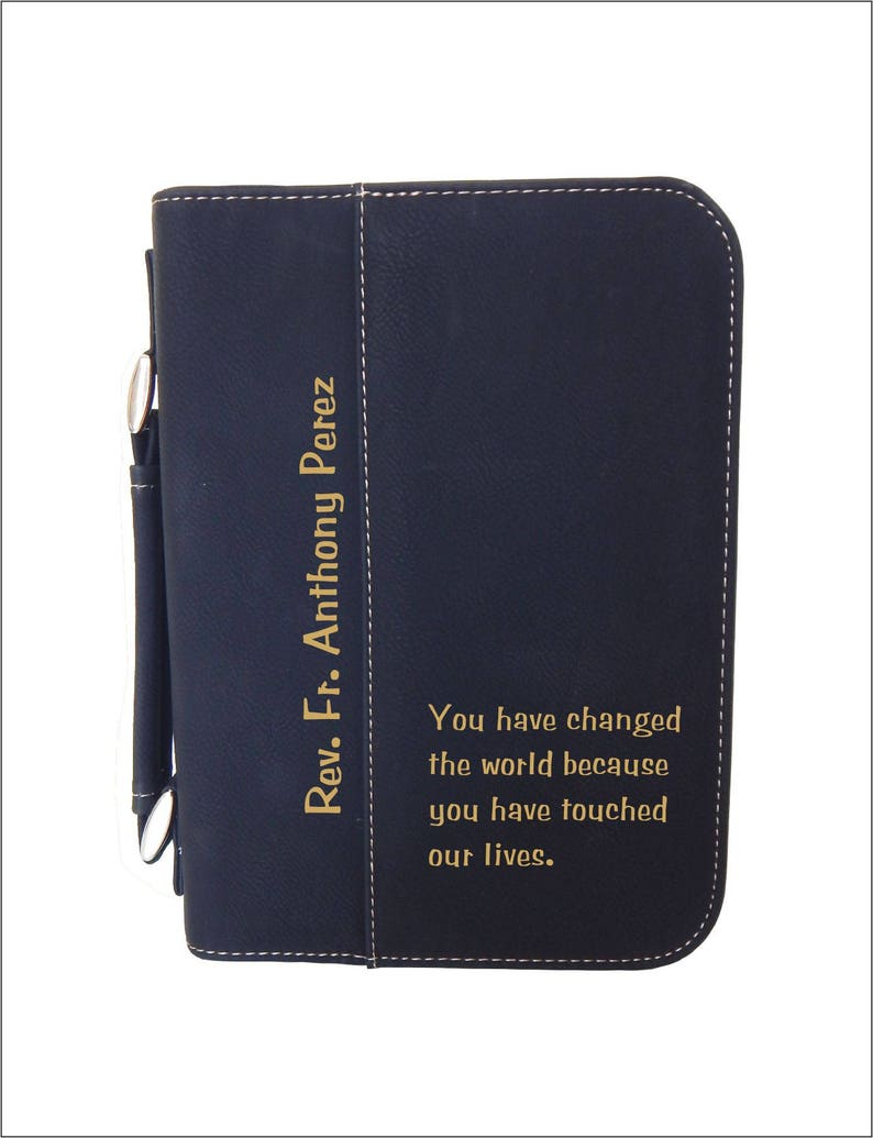 Gift for Catholic Priest - Personalized Gifts - Appreciation Bible Cover -  Deacon Christmas Gift, BCL048