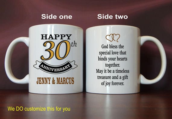 Gifts For 30th Wedding Anniversary Couple: 30th Wedding Anniversary Mug Gift Personalized Gifts For