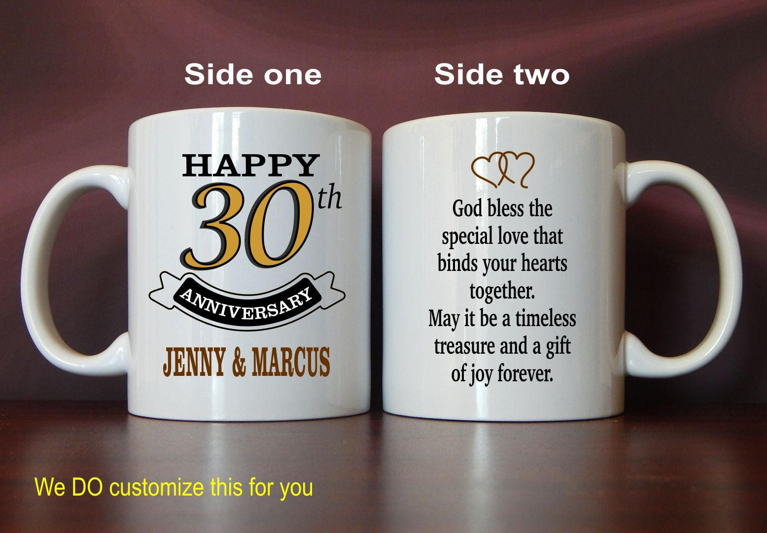 30th Wedding Anniversary Mug Gift Personalized Gifts For Etsy