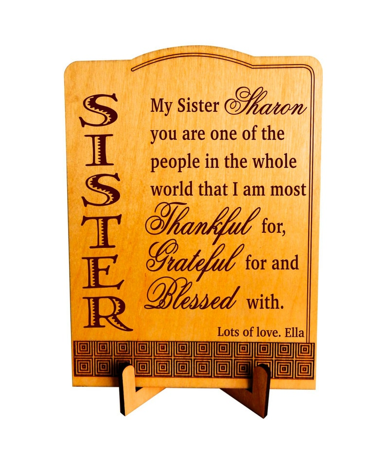 Personalized Sister Birthday Gift Twin Sisters Gifts From