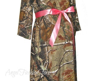 Pink Camo Maternity Dresses