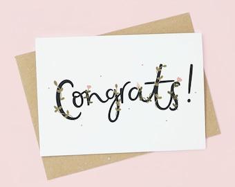 Congrats! | Congratulations A6 Card