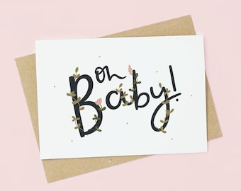 Oh Baby! New Baby Pregnancy Card