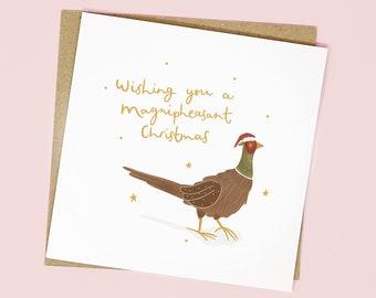 A Magnipheasant Christmas Card | A6 Animal Lover Christmas Card