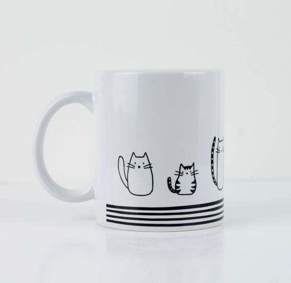 Cat Mug Lover Gift Crazy Lady Birthday