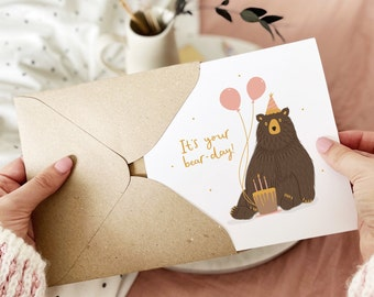 It's Your Bear-Day! | Funny Birthday Card