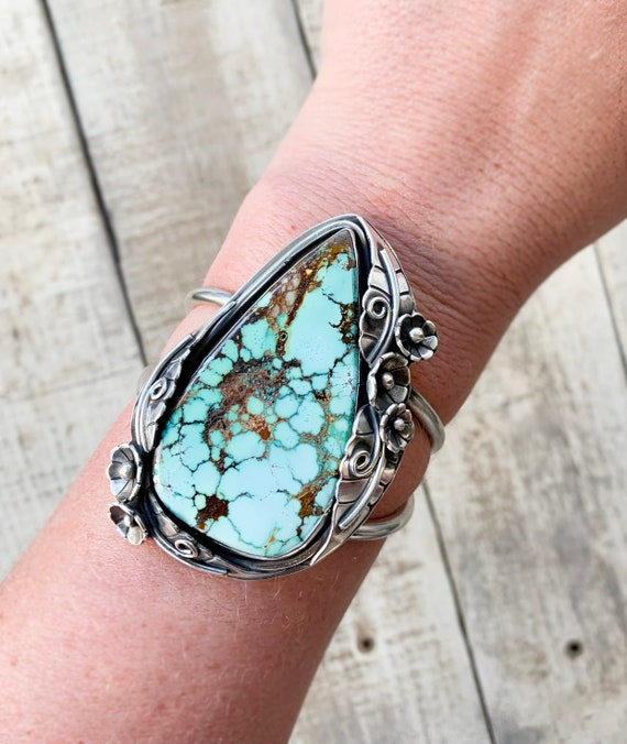 Timberline Turquoise Cuff Handmade With Sterling Silver