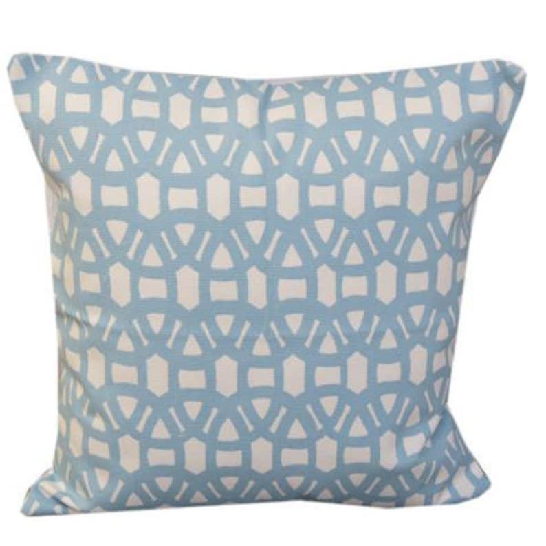 Scion Lace Powder Blue /& Gull Geometric Cushion Cover