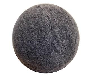 65cm Yoga Ball Cover - balance ball cover, exercise ball cover, fitness ball cover, physio ball cover - Charcoal Stonewash