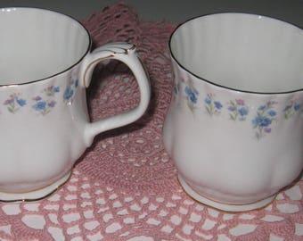 2 ROYAL ALBERT MEMORY Lane Mugs, Bone China.  Made in England