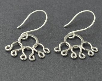 Filigree Earrings, Silver Dangle Earring, Sterling silver filigree earrings, Silver dangle earrings