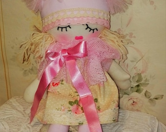 doll -handmade doll - rag doll - toys