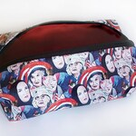 Grey Gardens illustrated make-up bag/pencil case. Handmade and exclusive to ThatAgnes!