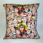 Large Murder She Wrote illustrated and handmade cushion