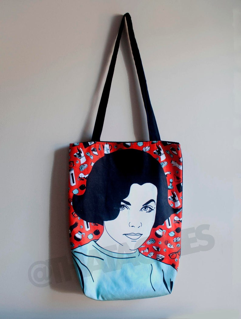 Audrey Horne Twin Peaks tote with lining. Superstrong image 0