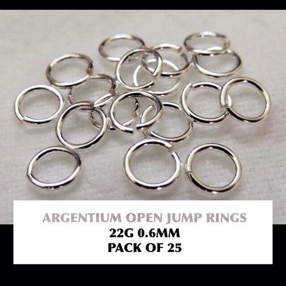 Pack of 10 Gold Filled Open Jump Rings 0.6mm wire, approx. AWG 22