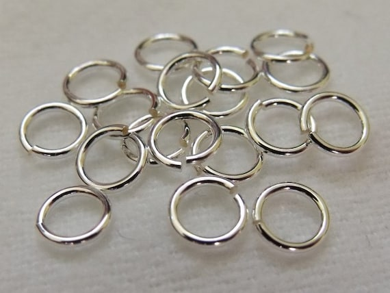 Sterling Silver Jump Rings 1.2mm wire, approx. AWG 16 Pack of 5