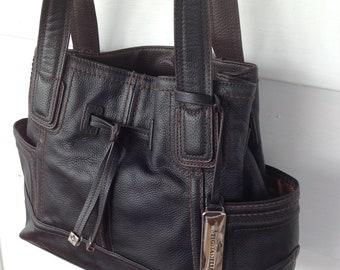 5f11a5be4f Tignanello black Leather Shoulder handbag