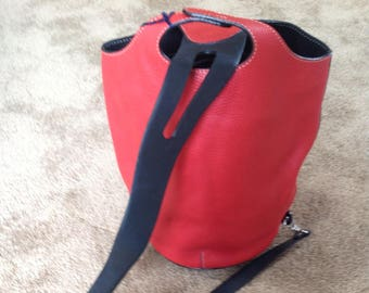 Sylvia Zummaraga SZ Collection Red Sling Handbag Buenos Aires