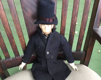 Vintage Yield House Porcelain Doll Abraham Lincoln Dressed