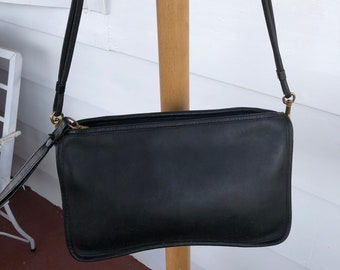 Vintage Coach Black Leather 70s Coach purse from  the Cashin era.