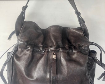 236b420a76 Francesco Biasia Chocolate Brown Shoulder Drawstring Handbag