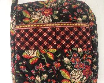 7fa7b2d4309b Retired Vera Bradley Anastasia Black Red Floral Hipster Bag Handbag Purse