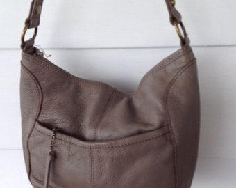 ba4a8e7fa8 The Sak Taupe Pebbled Leather Shoulder Handbag