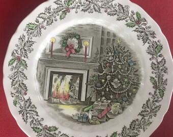 Vintage Jamestown China Joy of Christmas canister   Etsy