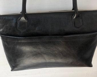 24b21510b662 Hobo International Black Leather Tote Shoulder Bag Purse