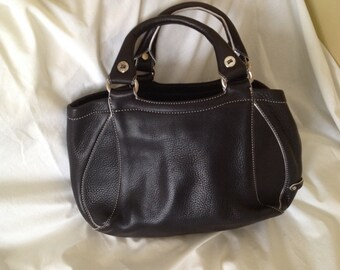 REDUCED! Cole Haan Black 100% Pebble Leather Double HandleSatchel Purse