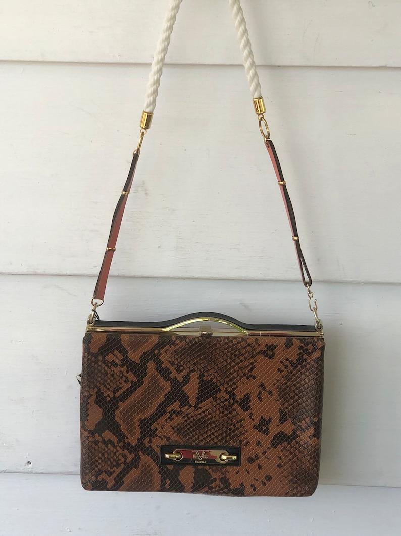 b3578f28 Versace 19.69 Reptile Embossed clutch shoulder bag purse