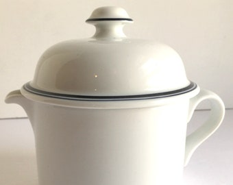 DANSK Bistro Christianshavn Blue Rim Covered Creamer Niels Refsgaard Design Exzcellent Condition