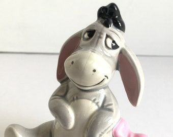 """Vintage Disney Eeyore 3.5"""" Ceramic Figurine Winnie the Pooh & Friends Made in Japan"""