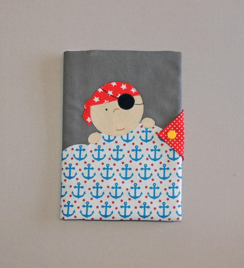 Protects health notebook pirate customizable fleece child Sans prénom