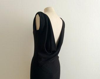 Balenciaga black silk dress
