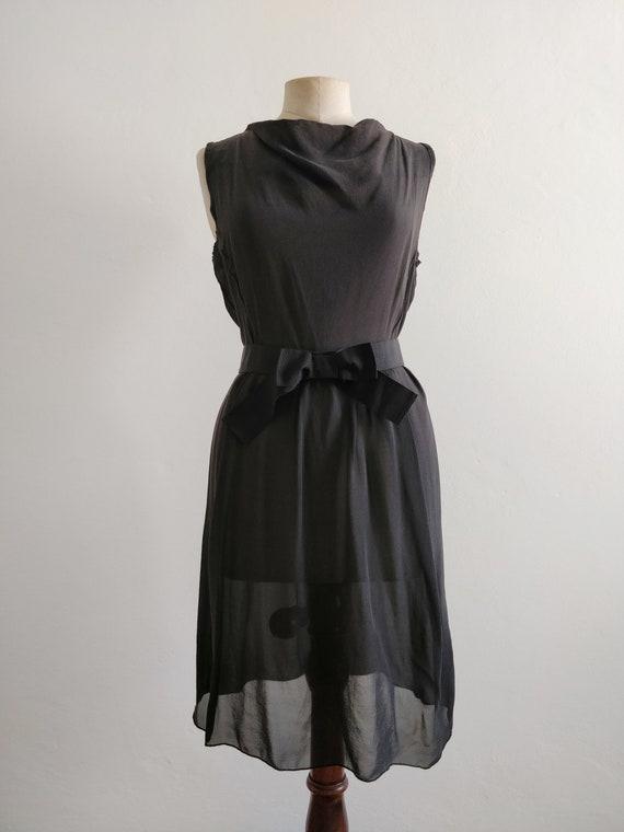 90s Prada silk georgette dress