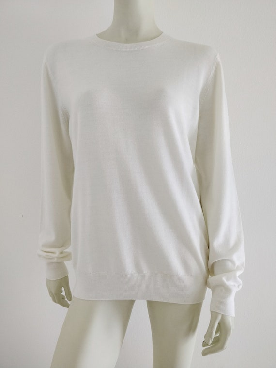 Vivienne Westwood Man white ivory cotton knit