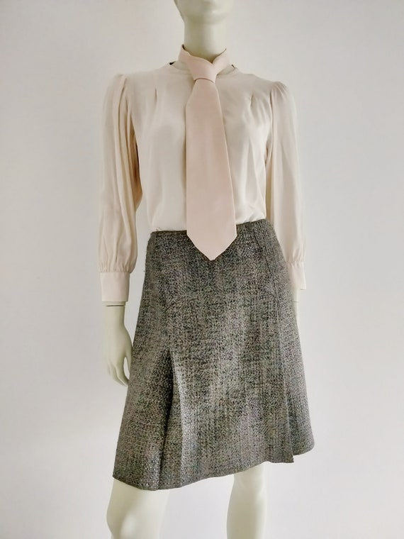 MIU MIU tweed pleated skirt