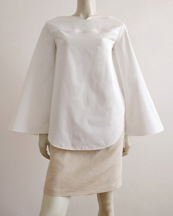 NINA RICCI oversized blouse with bell sleeves