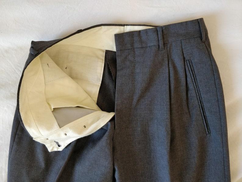 80s Romeo Gigli grey wool trousers