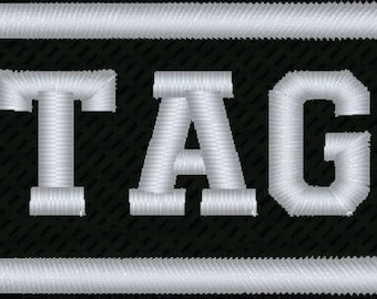 90253bb6dd36 CUSTOM Your Name Tag PATCH Embroidered Airsoft Biker | Etsy