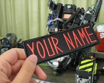 Custom Ghostbusters NAME TAG,Personalized Embroidered PATCH/Iron on/Sew on/ 12cm x 4.5cm,1.75Hx5W