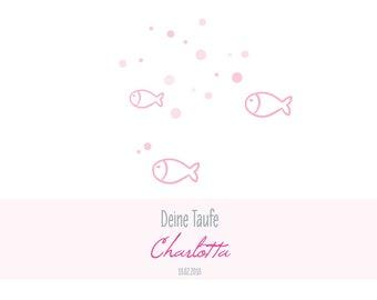 Gästebuch Taufe - *Fische* - PDF