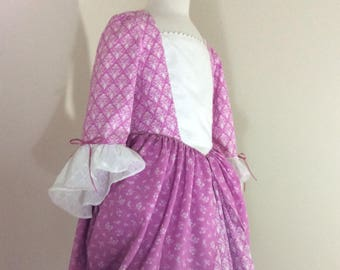 Colonial Dress Girl's Size 8 READY to ship.
