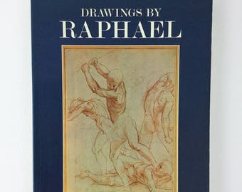 Vintage Drawings by Raphael- paperback book 1984 by J.A Gere & Nicholas Turner art book, drawings illustrations, artist book, illustrator