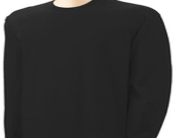 Upgrade From Men's Black Short Sleeve T-Shirt to Long Sleeves